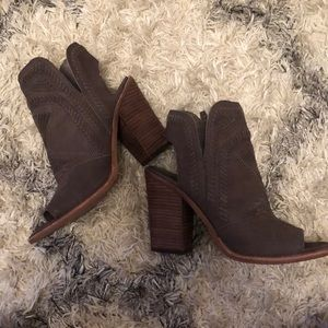 Vince Camuto Shoes - Vince Camuto Open Toe Bootie, Size 8